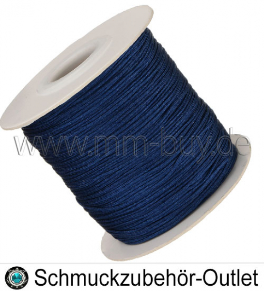 Makramee Band, Knüpffaden, marineblau, Ø: 0.8 mm, Meterware