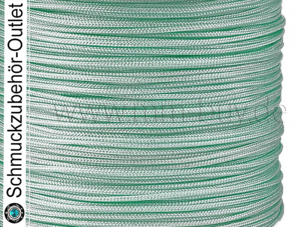 Textilband, Ø: 0.8 mm, mint, 1 Rolle (45 Meter)